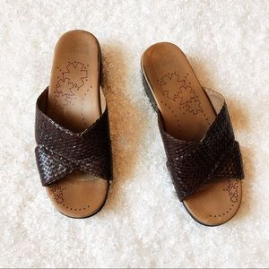 Dansko Brown Leather Sandals Size 40